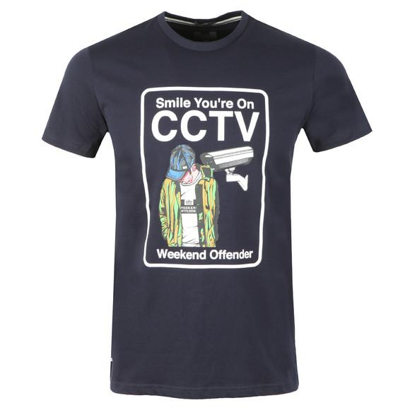 Weekend Offender Mens Blue CCTV T Shirt main image