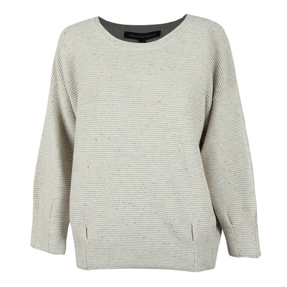 French Connection Womens Grey Ottoman Mozart Speckle Ribbed Jumper main image