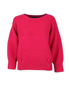 French Connection Womens Pink Ribbed Jumper