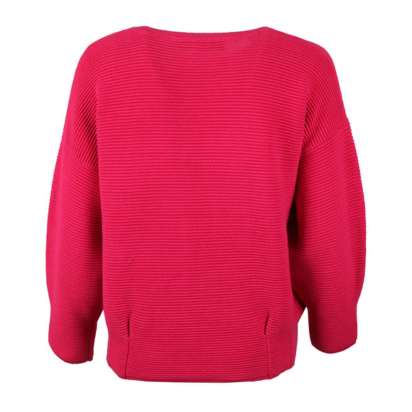 French Connection Womens Pink Ribbed Jumper main image