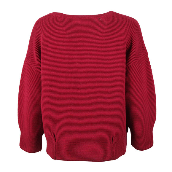 French Connection Womens Red Ribbed Jumper main image