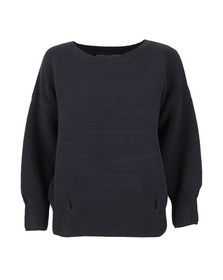 French Connection Womens Blue Ribbed Jumper