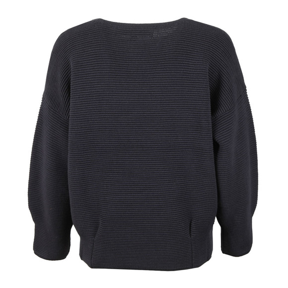 French Connection Womens Blue Ribbed Jumper main image