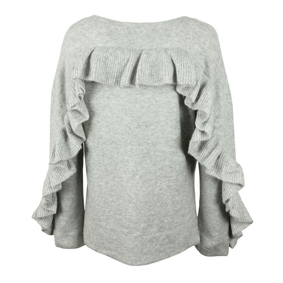 French Connection Womens Grey Emilde Knit Frill Jumper main image