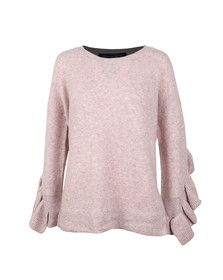 French Connection Womens Pink Emilde Knit Frill Jumper