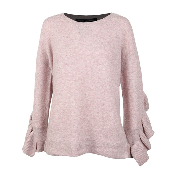 French Connection Womens Pink Emilde Knit Frill Jumper main image