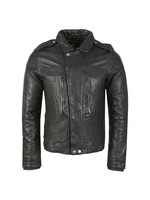 Zipthrough Leather Biker Jacket