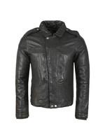 Zipthrough Leather Biker Jacket