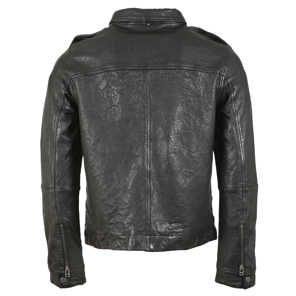 Zipthrough Leather Biker Jacket main image