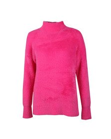 French Connection Womens Pink Edith Fluffy Jumper