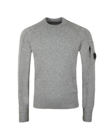 C.P. Company Mens Grey Lambswool Crew Neck Jumper
