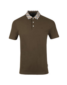 Aquascutum Mens Green Coniston Club Check Collar Polo Shirt