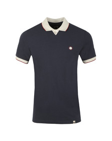 Pretty Green Mens Blue V Neck Polo Shirt