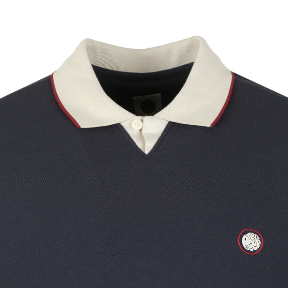 Pretty Green Mens Blue V Neck Polo Shirt main image