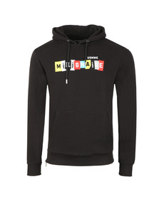 Millionaire Homme Mens Black Patchwork Hoody