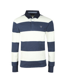 Gant Mens Off-white Barstripe Heavy Rugger