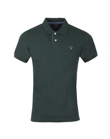 Gant Mens Green Contrast Collar S/S Polo