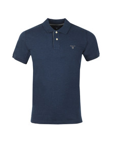 Gant Mens Blue Contrast Collar S/S Polo