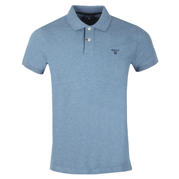 Gant Mens Blue Contrast Collar S/S Polo main image