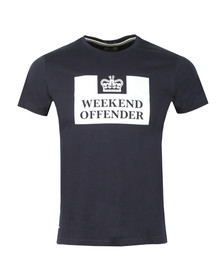 Weekend Offender Mens Blue Weekend Offender Prison T Shirt