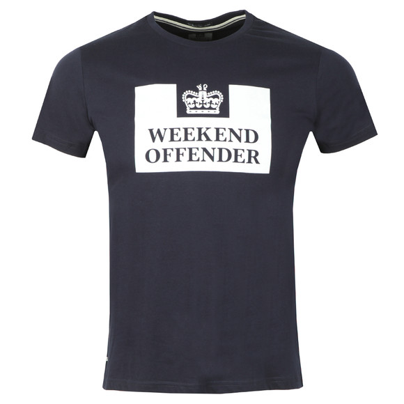 Weekend Offender Mens Blue Weekend Offender Prison T Shirt main image