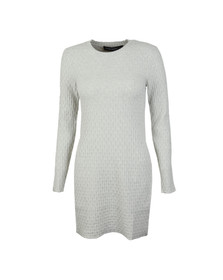 French Connection Womens Grey Relie Knits Split Side Tunic Dress