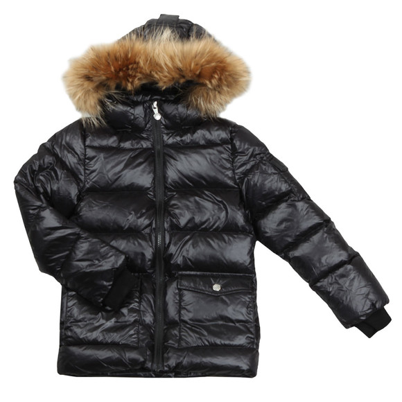 Pyrenex Girls Black Authentic Jacket With Fur