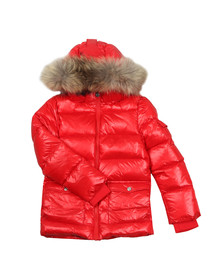 Pyrenex Girls Red Authentic Jacket With Fur