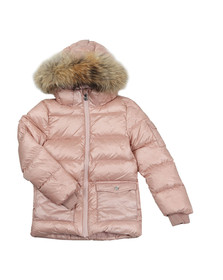 Pyrenex Girls Pink Authentic Jacket With Fur