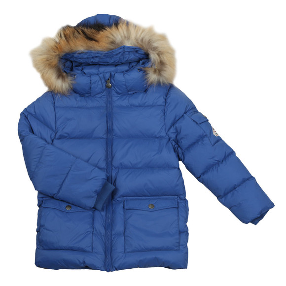 Pyrenex Boys Blue Authentic Jacket With Fur main image