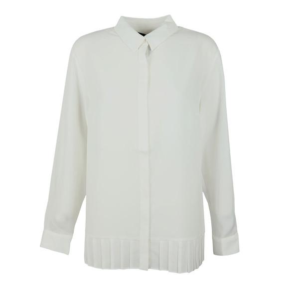 French Connection Womens White Crepe Light Pleat Shirt main image