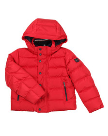 Paul & Shark Cadets Boys Red Hooded Down Puffer