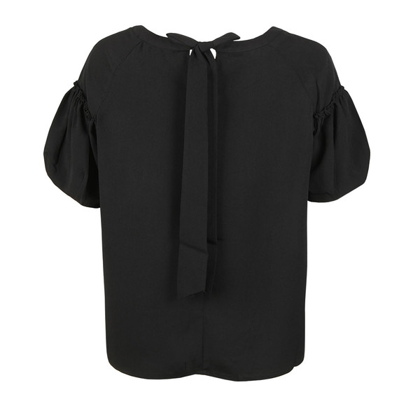 French Connection Womens Black Crepe Light Puff Sleeve T-Shirt main image