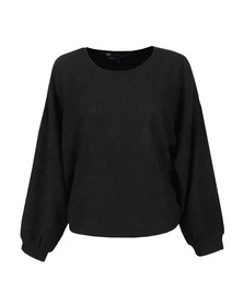 French Connection Womens Black Willow Jersey Cropped Top