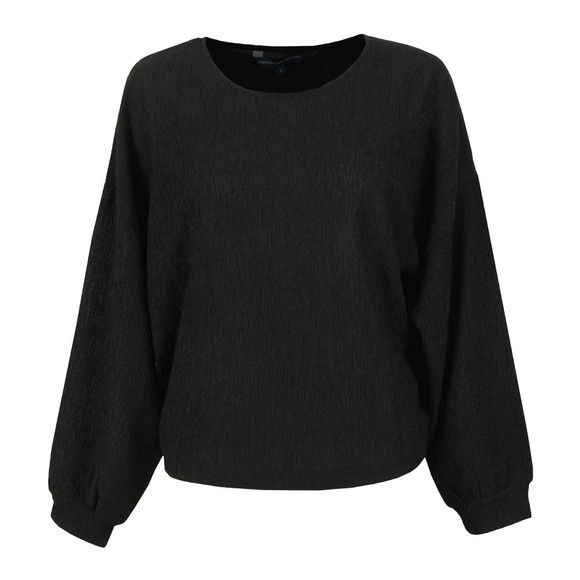 French Connection Womens Black Willow Jersey Cropped Top main image