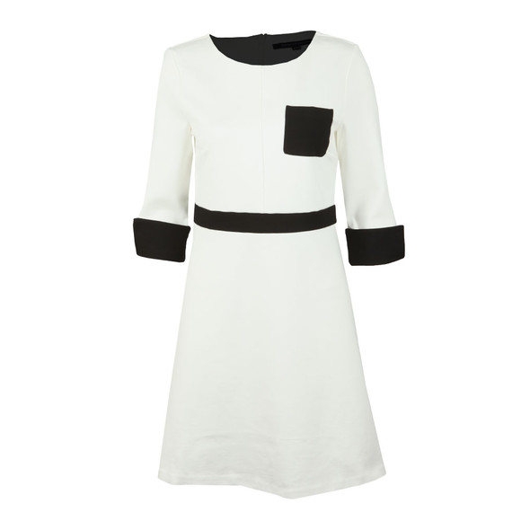 French Connection Womens White Gabrielle Jersey Pocket Dress main image