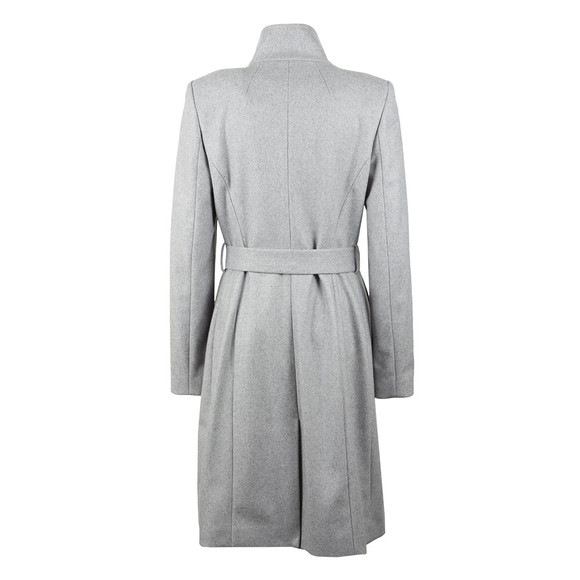 Ted Baker Womens Grey Long Wool Wrap Coat main image