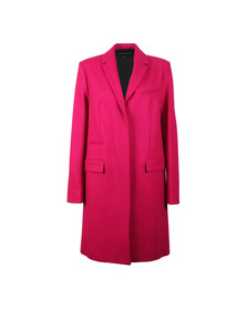 French Connection Womens Red Platform Felt Smart Coat