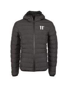 Eleven Degrees Mens Black Space Puffer Jacket