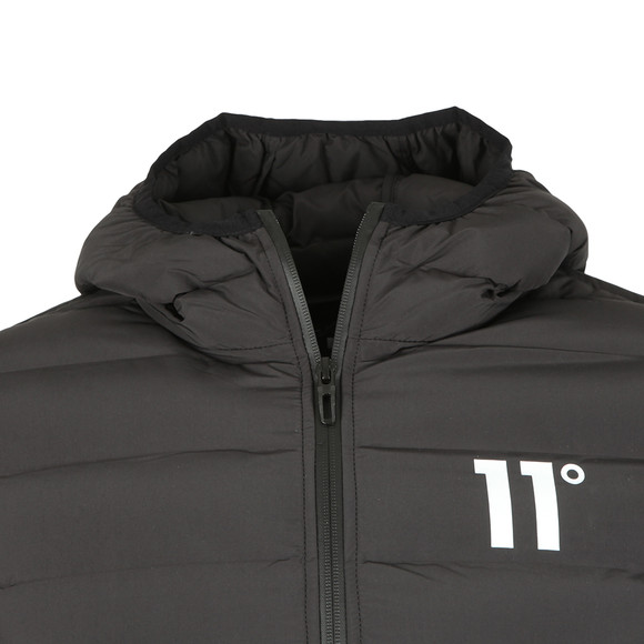 Eleven Degrees Mens Black Space Puffer Jacket main image