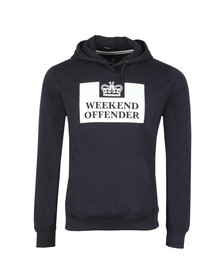 Weekend Offender Mens Blue HM Service Classic Hoody