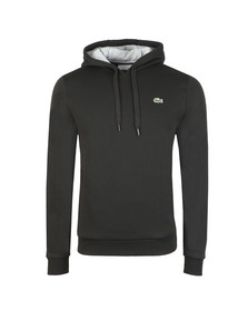 Lacoste Sport Mens Black SH2128 Hooded Sweat