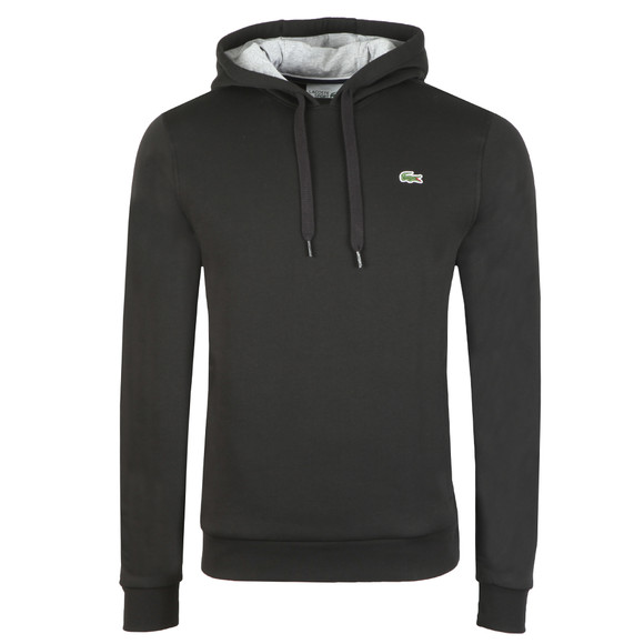 Lacoste Sport Mens Black SH2128 Hooded Sweatshirt