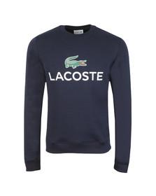 Lacoste Mens Blue SH0605 Print Sweatshirt