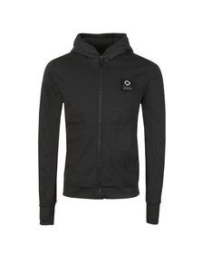 Ma.Strum Mens Black Hood Sweat