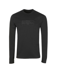 Ma.Strum Mens Black Box Logo Crew Sweatshirt