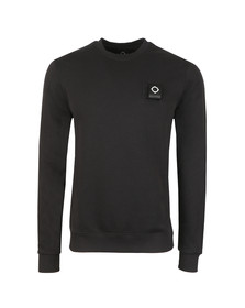 Ma.Strum Mens Black Training Crew Sweatshirt