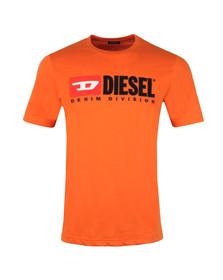 Diesel Mens Orange Division Crew T-Shirt