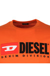 Diesel Mens Orange Division Crew T-Shirt