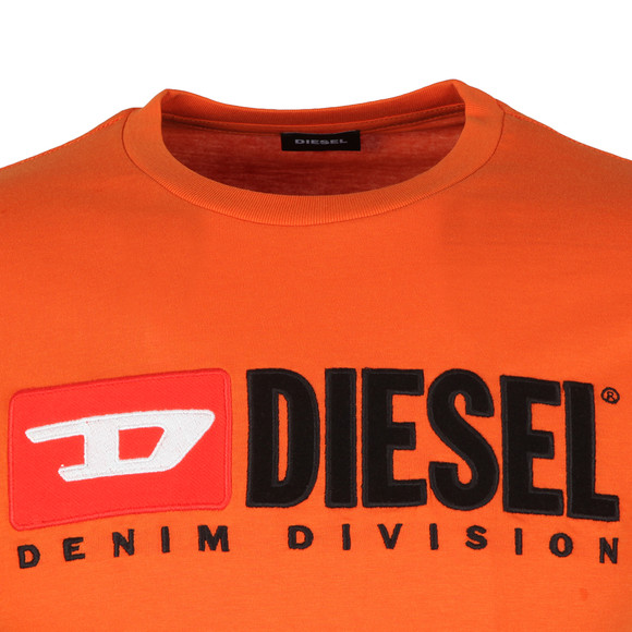 Diesel Mens Orange Division Crew T-Shirt main image